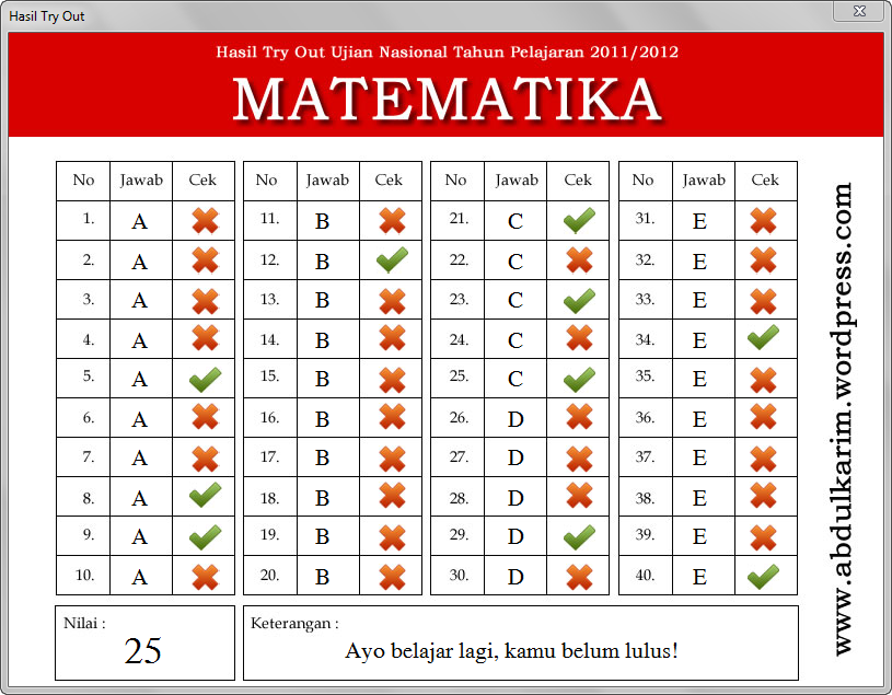 Contoh Lks Matematika Sma