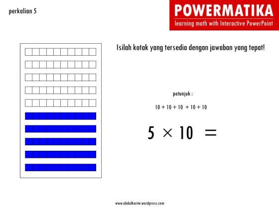 5000 Ppt Interaktif Perkalian 5 Sd Kelas 3 Abdul Karim