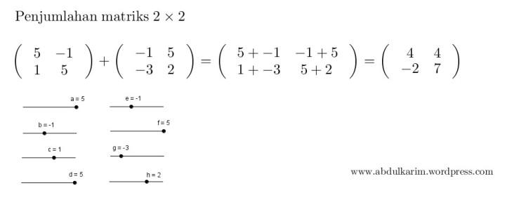 jumlahmatriks2x2